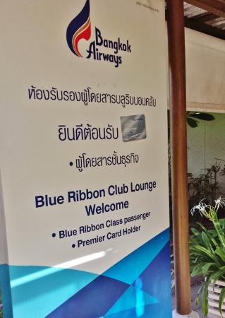 Koh Samui Airport Blue Ribbon Lounge Bangkok Airways
